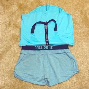 Nike workout top and shorts